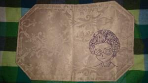 越後屋刺繍のランチョンマット
